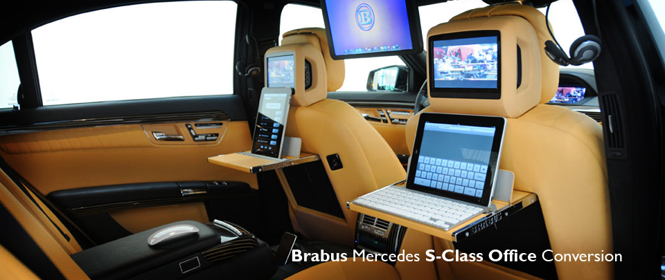 Custom S-Class Mobile Office Interior Design from Brabus