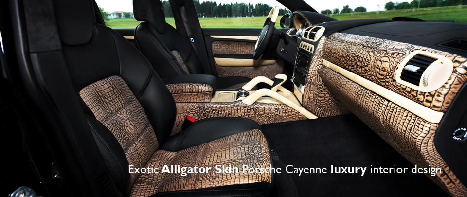 Exotic Alligator Skin Custom Interior Design for Porsche Cayenne