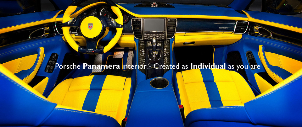 Individual Custom Interior Design for Porsche Panamera