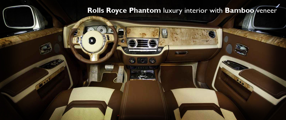 Exotic Bamboo Veneer for the Rolls Royce Phantom