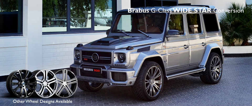WIDE STAR Wide Body Conversion from Brabus for the Mercedes Benz G63 AMG