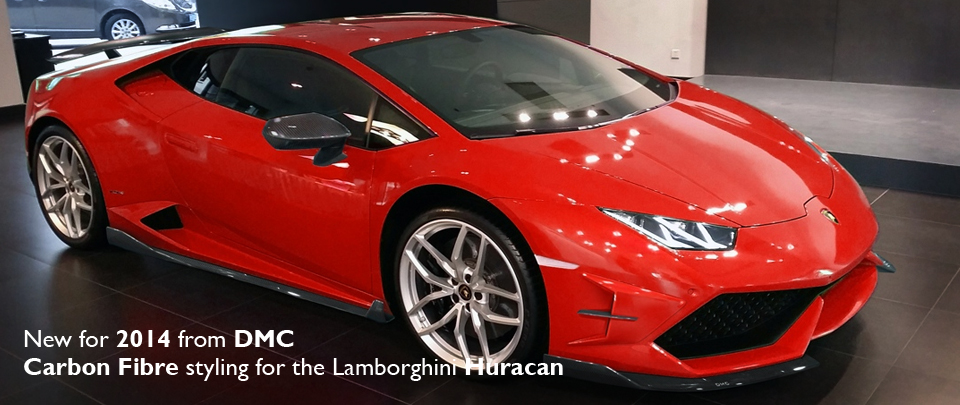 New for 2014 from DMC, Carbon Fibre styling for the Lamborghini Huracan