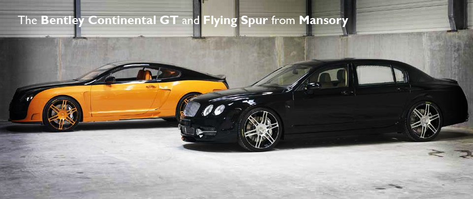 The Bentley Continental GT and Flying Spur Styling Packages from Swiss Tuning Giants Mansory