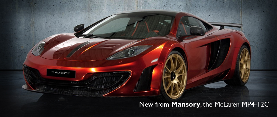 New from the Swiss Tuning Giants Mansory, Carbon Fibre styling package for the McLaren MP4-12C