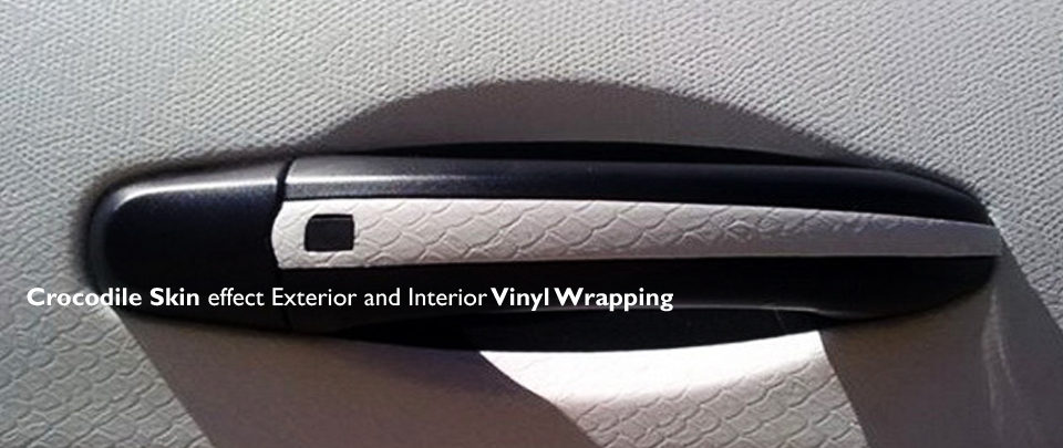 crocodile skin textured vinyl wrapping