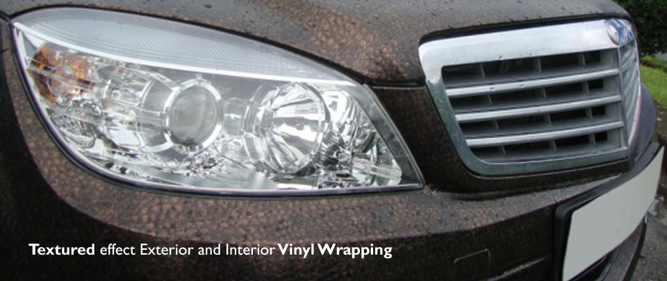vehicle vinyl textured wrapping london