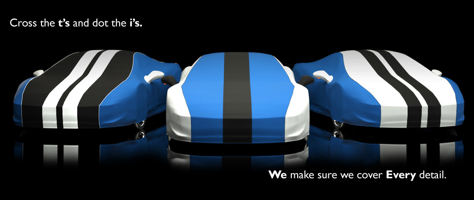 we can design and produce a custom fully protective cover for your vehicle