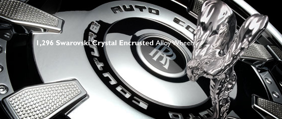 Bespoke Luxury Alloy Wheels with Encrusted with Genuine Swarovski Crystals