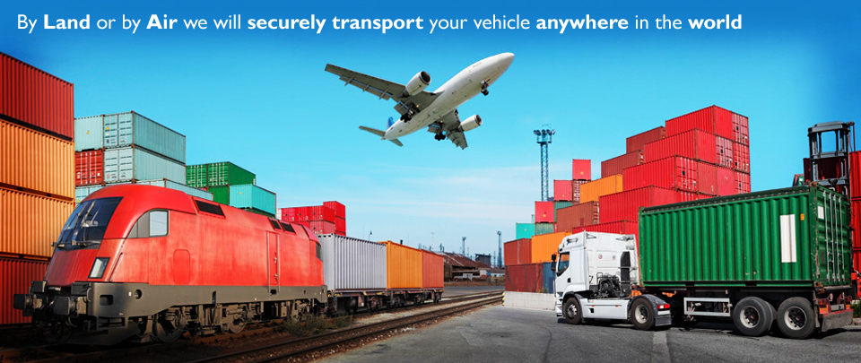 we securely transport your vehicle to anywhere in the world by air or sea