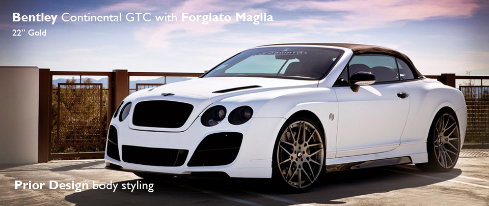 22 inch Maglia alloy wheels from the luxury brand FORGIATO